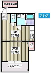 ユーマンション千島[202号室]の間取り