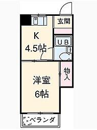 小島ハイツ2号[202号室]の間取り