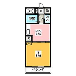マンション青山[4階]の間取り