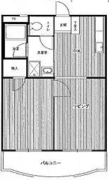 エクセル米喜(高津)[4階]の間取り