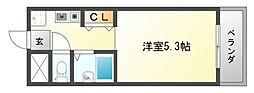 横山第8マンション[4階]の間取り