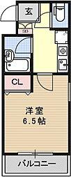 五条若宮ハイツ[203号室号室]の間取り
