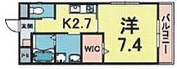 Alverde Nishikita 1階1Kの間取り