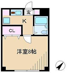 プレジールM[2階]の間取り