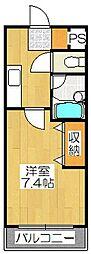 京都府京都市南区八条通大宮西入八条町の賃貸マンションの間取り