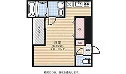 Branche藤崎 1階1Kの間取り