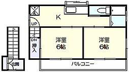 [一戸建] 千葉県市川市欠真間2丁目 の賃貸【/】の間取り
