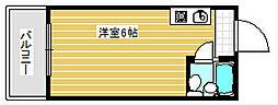 大国町池田マンション[4階]の間取り