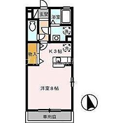 岡山県倉敷市水島西寿町丁目なしの賃貸アパートの間取り