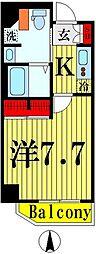 都営浅草線 本所吾妻橋駅 徒歩6分の賃貸マンション 3階1Kの間取り