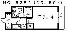 FDS Court Felice(エフディーエスコートフェリーチェ)[107号室号室]の間取り