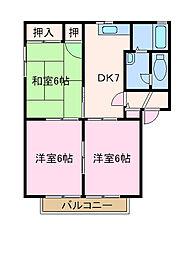 兵庫県姫路市西今宿1丁目の賃貸アパートの間取り