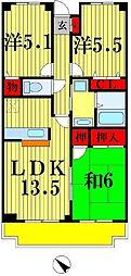 ヴァンドーム松戸弐番館[1階]の間取り