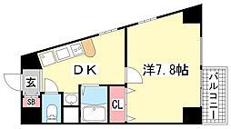 エステムコート新神戸エリタージュ[7階]の間取り