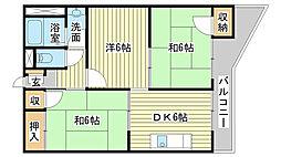 マンション龍野[3-4号室]の間取り