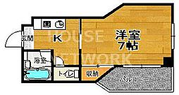 ラフィーネ四条堀川[206号室号室]の間取り