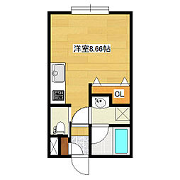 東林ハイツA棟[A202号室]の間取り