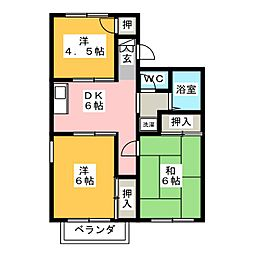 サンコーポ瀬戸口B棟[2階]の間取り