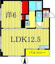 栗山マンション[302号室]の間取り