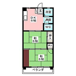 Kハイツ(中村)[3階]の間取り