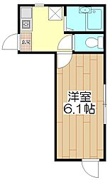 オペラシオンボォヌール竹の塚[105号室]の間取り