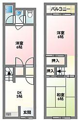 [テラスハウス] 大阪府守口市藤田町1丁目 の賃貸【/】の間取り