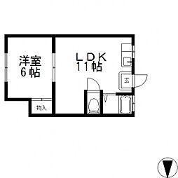 築山マンション[303号室号室]の間取り