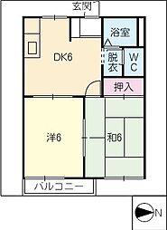 AYUMIハイツ[2階]の間取り