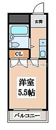 OMレジデンス八戸ノ里[5階]の間取り