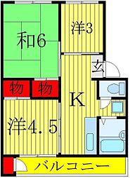 鎌ケ谷サンハイツ[2階]の間取り