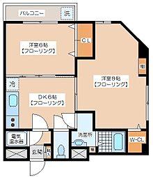 代田ウエスト[6階]の間取り