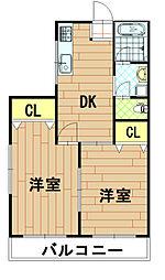 神奈川県川崎市中原区上小田中7丁目の賃貸マンションの間取り