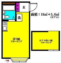 東京都品川区荏原5丁目の賃貸アパートの間取り