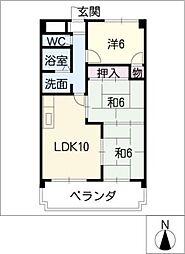 矢野マンション[1階]の間取り