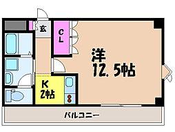愛媛県伊予市米湊の賃貸マンションの間取り