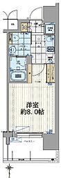 Osaka Metro長堀鶴見緑地線 西大橋駅 徒歩4分の賃貸マンション 12階1Kの間取り