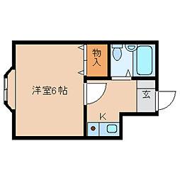 奈良県天理市別所町の賃貸マンションの間取り