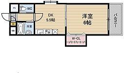 有馬パレス新大阪[3階]の間取り