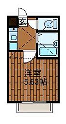 パークサイド鹿沼[2階]の間取り