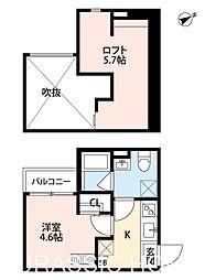 大阪府堺市堺区緑町1丁の賃貸アパートの間取り