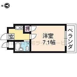シャレー西京極[106号室]の間取り