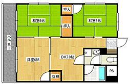 古賀第2ビル[3階]の間取り
