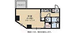 メゾン・ド・ソレイユ 4階1Kの間取り