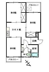 福岡県福岡市南区向新町1丁目の賃貸マンションの間取り