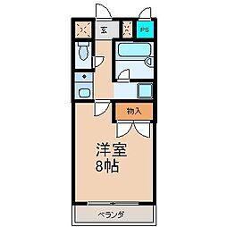 フジハイツII[402号室]の間取り