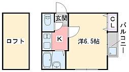 ポラリス姪浜II[103号室]の間取り
