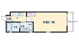 ドーリアNIJO駅東[2D号室号室]の間取り