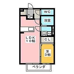 セレッソハイム[1階]の間取り
