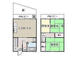 [テラスハウス] 神奈川県横須賀市鴨居1丁目 の賃貸【/】の間取り
