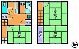 [テラスハウス] 奈良県生駒市北田原町 の賃貸【/】の間取り